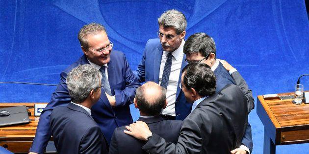 Atual presidente do MDB, Romero Jucá, deve manter o controle da legenda, o que pode ajudar Renan Calheiros...