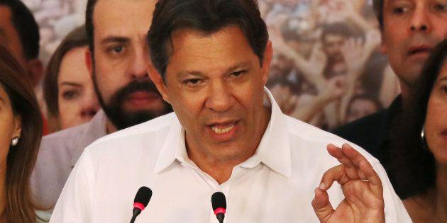 Segundo delação do empresário Ricardo Pessoa, Haddad teria pedido R$ 3 milhões à UTC em 2013 para quitar...