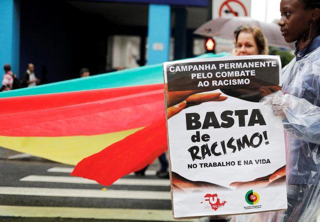 Ato pelo Dia da Consciência Negra em São Paulo, em