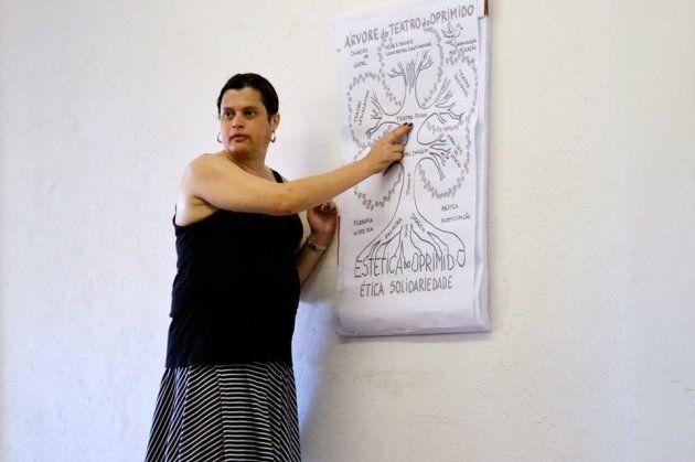 Marjorie Serrano é dramaturga e multiplicadora do Teatro do Oprimido de Augusto