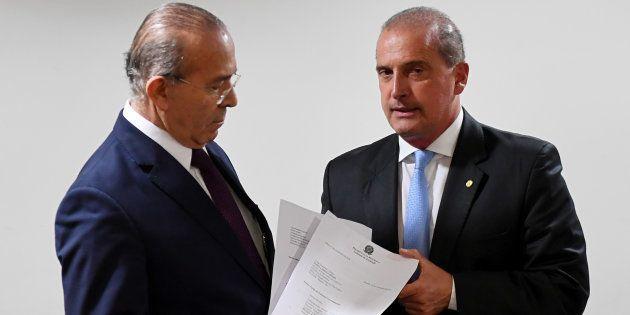 Ministro da Casa Civil do governo Temer, Eliseu Padilha se reúne com sucessor, Onyx