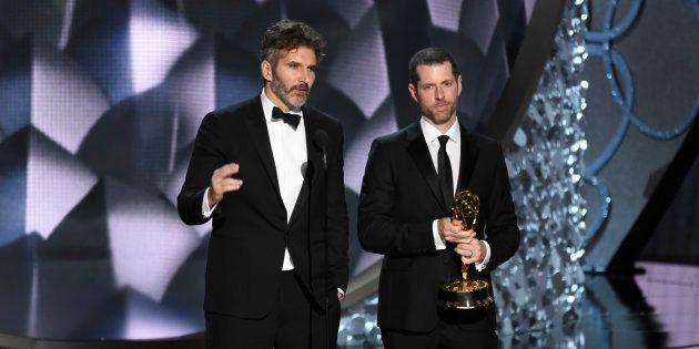 David Benioff e D.B Weiss no Emmy de 2016,