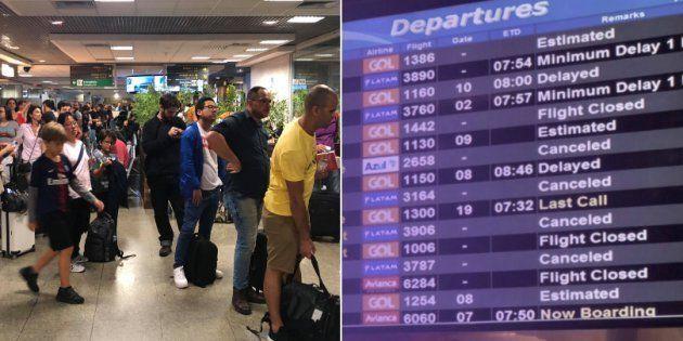 O aeroporto de Congonhas está operando por instrumentos na manhã deste sábado