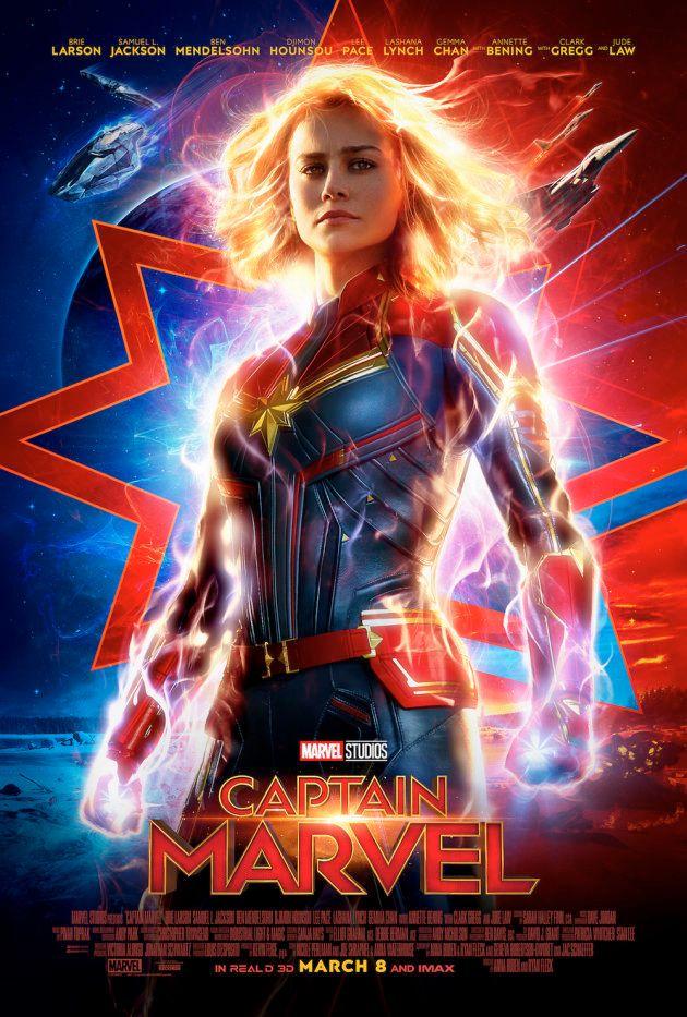 Primeiro cartaz oficial de 'Capitã Marvel', divulgado nesta segunda