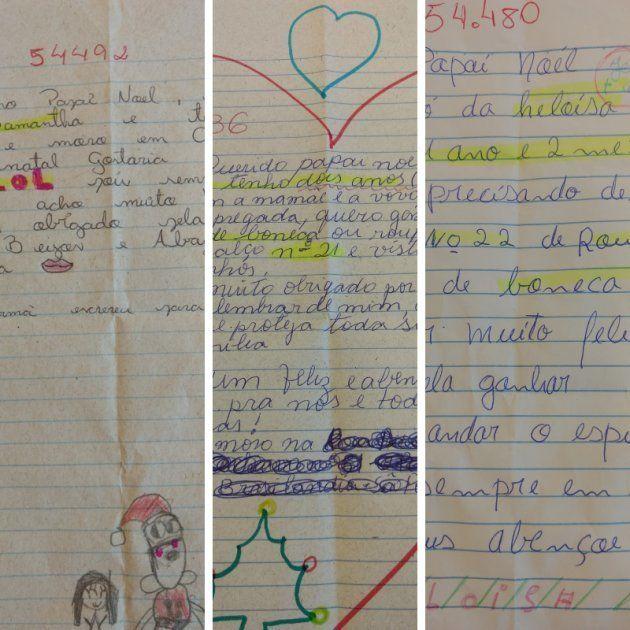 Algumas das cartinhas adotadas pela equipe do Huffpost Brasil.