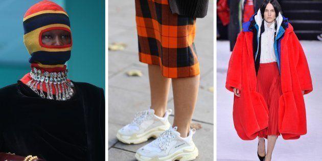 Balaclavas, tênis feios e casacos oversized estiveram entre as grandes tendências de 2018.
