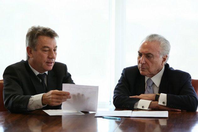 Na primeira reunião com Antônio Denarium, Michel Temer prometeu liberar verba para o interventor pagar...