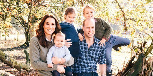 A foto de natal da Família Real.