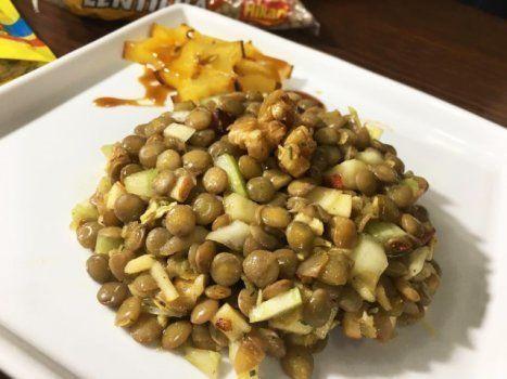 Salada de lentilha é opção leve e gostosa para a última ceia de 2018... e a primeira de 2019.