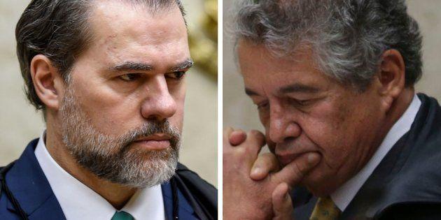 Os ministros do STF Dias Toffoli e Marco Aurélio