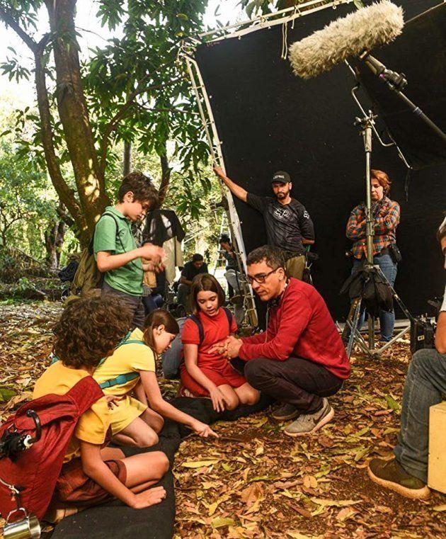 Daniel Rezende dirige o quarteto de crianças protagonistas da versão live-action da Turma da