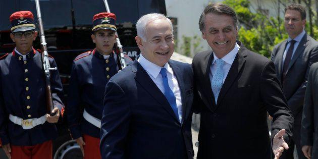 O encontro entre Jair Bolsonaro (PSL) e o primeiro-ministro de Israel, Benjamin