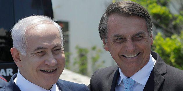 Benjamin Netanyahu, primeiro-ministro de Israel, é presença de destaque na posse de Jair