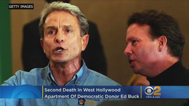 A man was found dead early Monday morning at the same West Hollywood apartment of prominent Democratic Party donor Edward Buck where another man died of a drug overdose about 18 months ago. Matt Yurus reports.