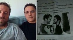 Casal gay na lista para adotar criança é alvo de panfleto homofóbico em
