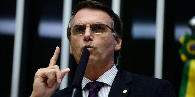 Deputado Jair Bolsonaro (PSC-RJ) no plenário da Câmara dos