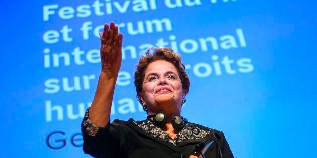 Ex-presidente Dilma Rousseff no Festival Internacional de Filmes de Direitos Humanos, em
