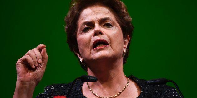 Ex-presidente Dilma Rousseff em conferência em