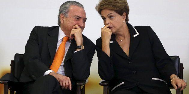Presidente Michel Temer com ex-presidente Dilma Rousseff, quando era vice da