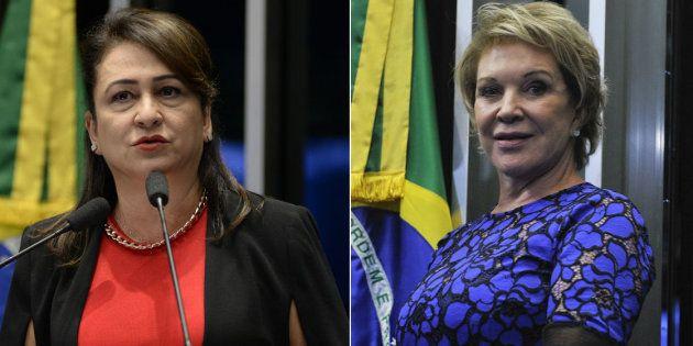 Senadoras do PMDB, partido de Michel Temer, Kátia Abreu e Marta Suplicy avaliam que governo sofre desgaste...