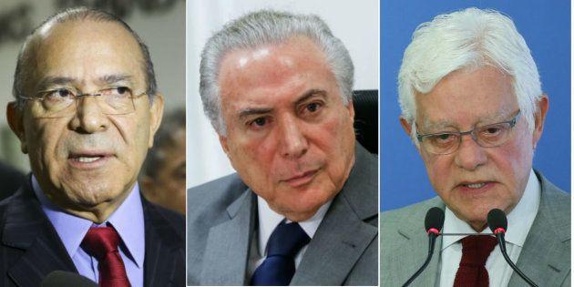 Ministro da Casa Civil, Eliseu Padilha, presidente Michel Temer e ministro da Secretaria-Geral da Presidência...