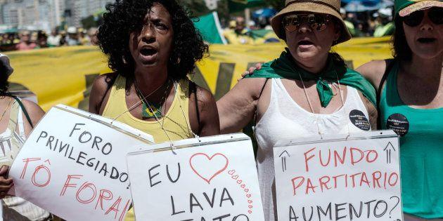Protesto contra a corrupção no Rio de