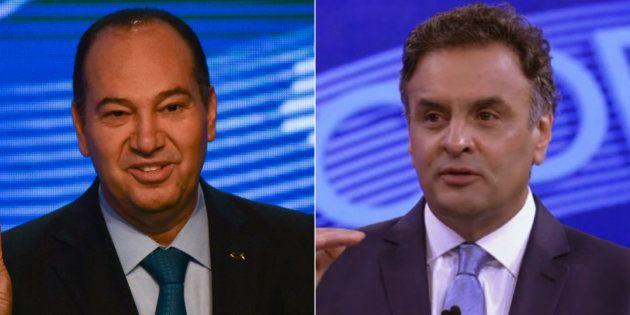 Pastor Everando, candidato do PSC à Presidência da República em 2014 e Aécio Neves, candidato pelo