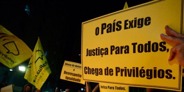 Manifestação contra a corrupção em São Paulo, em março de