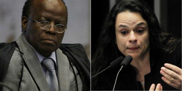 Ex-presidente do Supremo Tribunal Federal, Joaquim Barbosa, e autora do pedido de impeachment de Dilma...