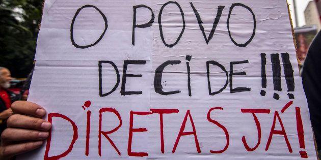 Manifestação em São Paulo pede saída do presidente Michel Temer e convocação de eleições