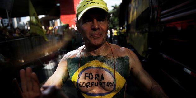 Protesto em São Paulo contra a