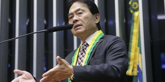 Deputado Hidekazu Takayama (PSC-PR) preside a bancada evangélica da Câmara dos Deputados desde abril...