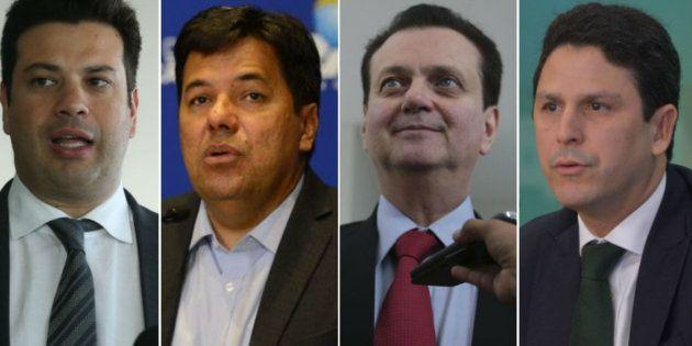 Ministros Leonardo Picciani (Esporte), Mendonça Filho (Educação), Gilberto Kassab (Ciência e Tecnologia)...