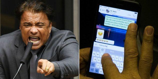 Deputado Wladimir Costa (SD-PA) troca mensagens ofensivas durante votação da denúncia contra presidente...