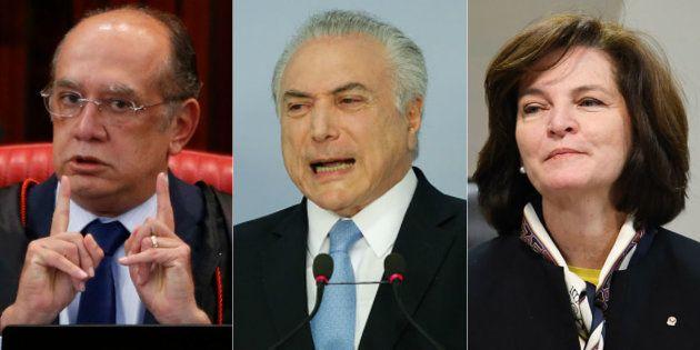 Presidente Michel Temer recebeu o presidente do Tribunal Superior Eleitoral, Gilmar Mendes, e a nova...