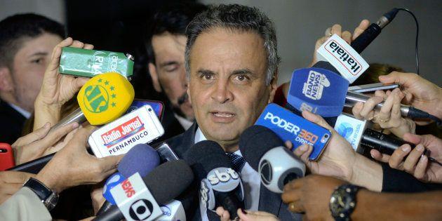 O senador Aécio Neves é réu no STF por corrupção e obstrução de