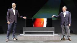 LG가 화면을 돌돌 마는 TV를