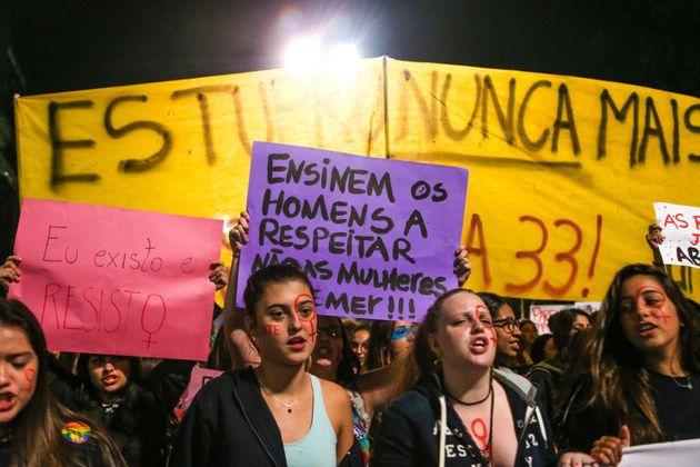 São Paulo 08/06/2016 2º ato Por Todas Elas na Avenida Paulista, contra o estupro. Foto Paulo
