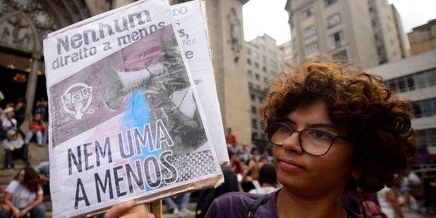 Protesto no Dia Internacional da Mulher em São