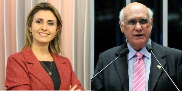 A jornalista Janice Santos, esposa do senador Lasier Martins (PSD-RS), prestou queixa contra o marido...