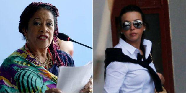 Ministra de Direitos Humanos, Luislinda Valois, e Adriana Ancelmo, esposa do ex-governador do Rio, Sérgio