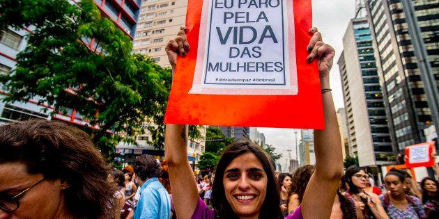 Protesto por direitos femininos no Dia Internacional das