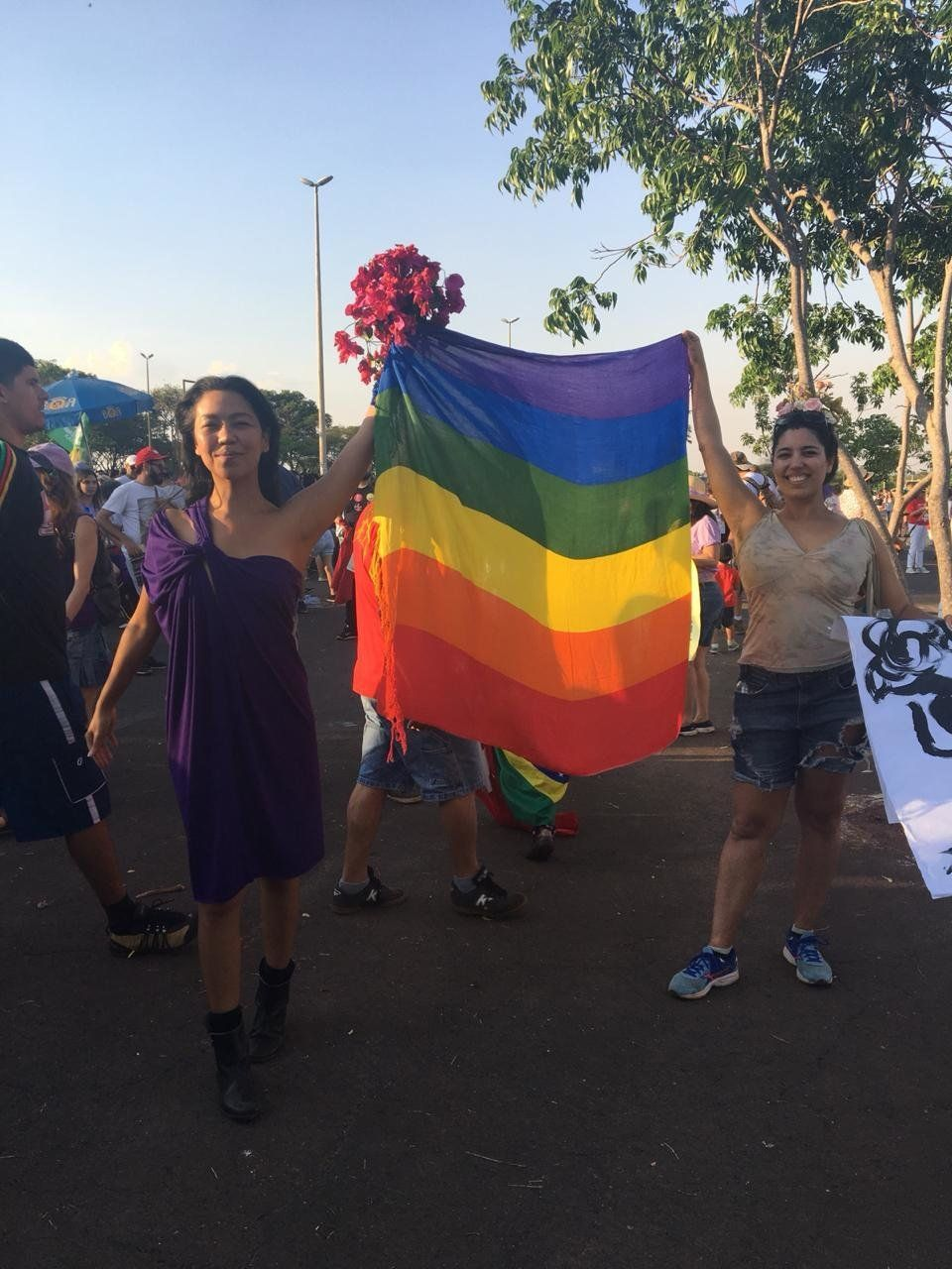 Carol Nemoto, 37 anos, designer de moda, foi ao protesto contra Bolsonaro em