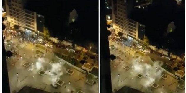 PM dispersa foliões com bombas no centro de São