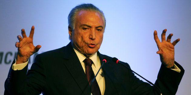 Presidente Michel Temer em evento em São