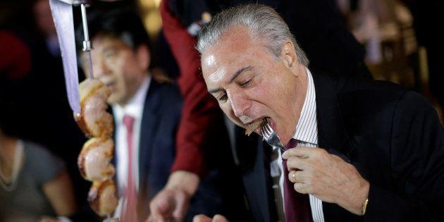 Temer festeja retomada de importações da carne brasileira na
