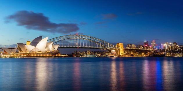 Skyline de Sydney, na