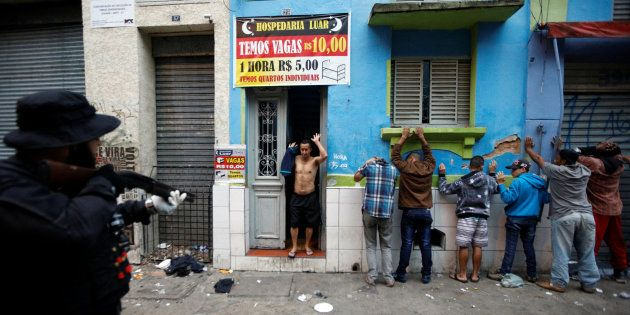 Operação policial do último domingo na Cracolândia, centro de São