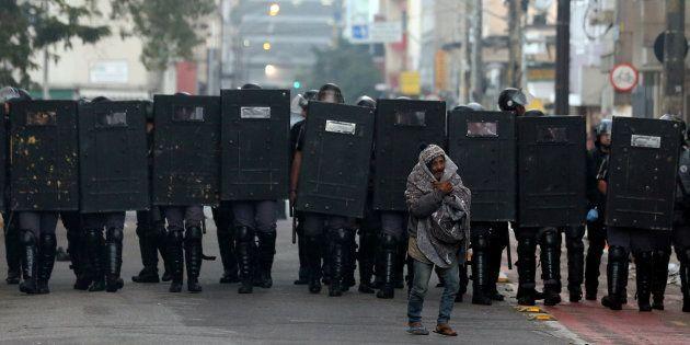 Operação policial no centro de São