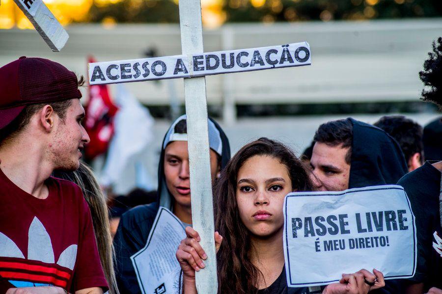 Manifestação de estudantes em São